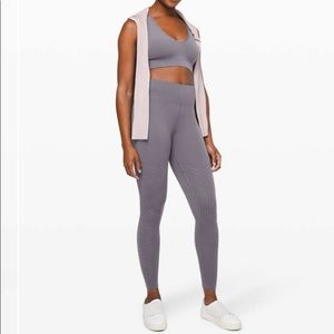 Lululemon Size 10 Reveal Tights mesh stripes
